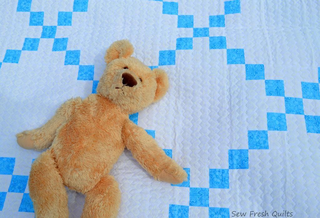 Irish chain baby quilt