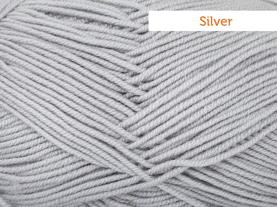 Cascade Elysian Yarn in Silver