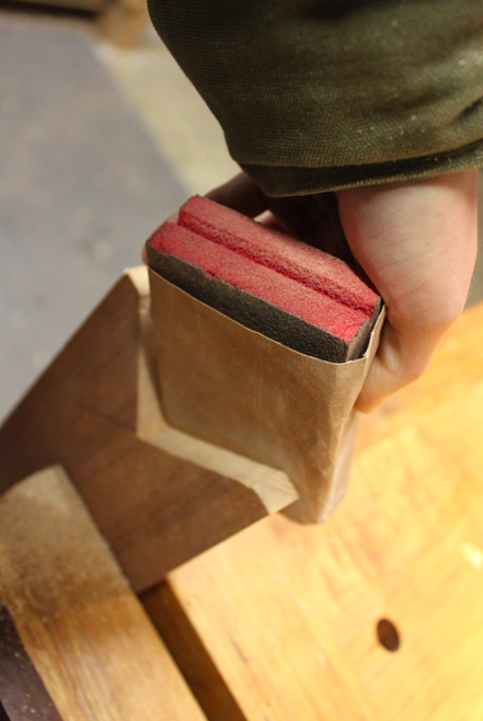 Clean Up cut with Sandpaper