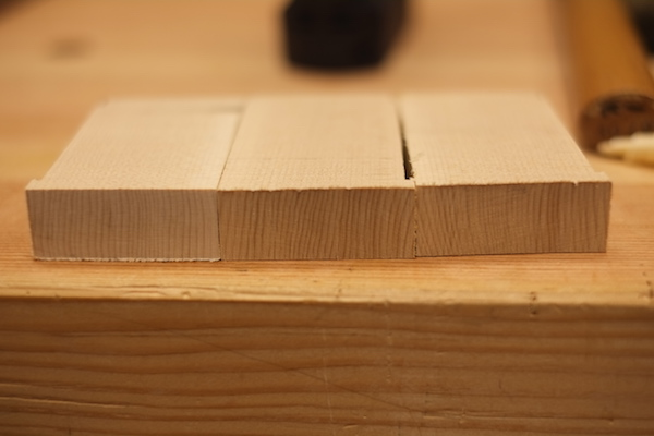 Reorienting the boards to turn flat grain into endgrain