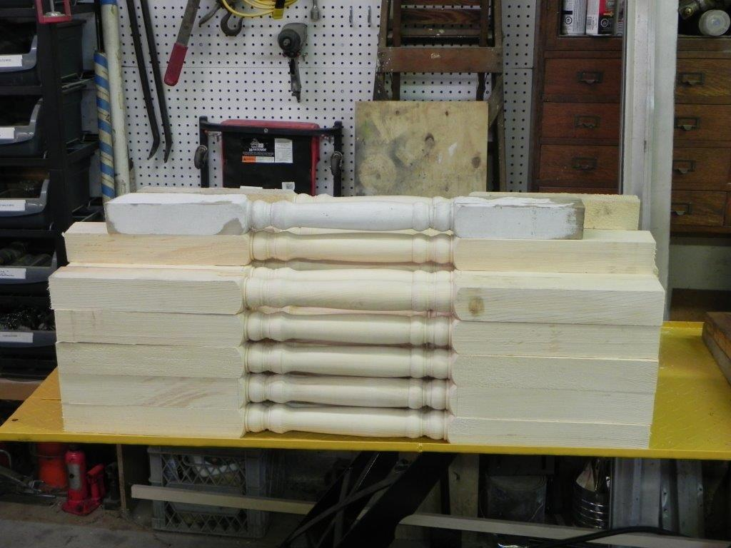 Forty two spindles (plus the original) ready to go.