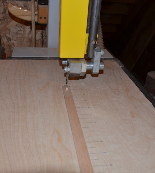 adjustable arm in place in jig