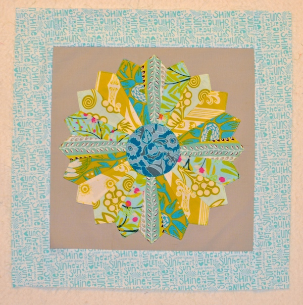 framing quilt block