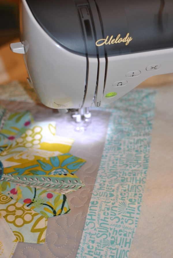 quilting the pillow front