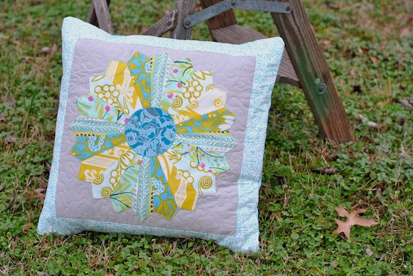Completed quilted pillow sham