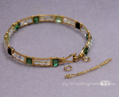 """material for this project - finished bracelet, 2 jump rings, 1 1/2"""" snippet of chain"""
