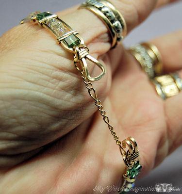 putting the bracelet on