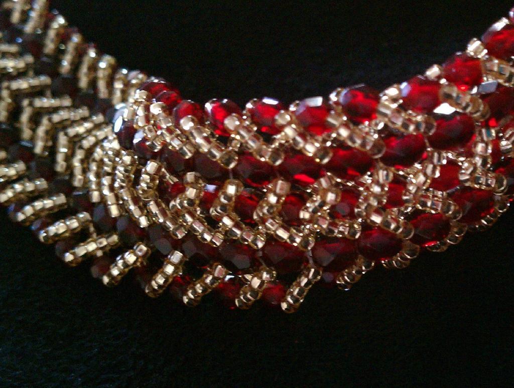 Double Row Flat Spiral Stitch Bracelet