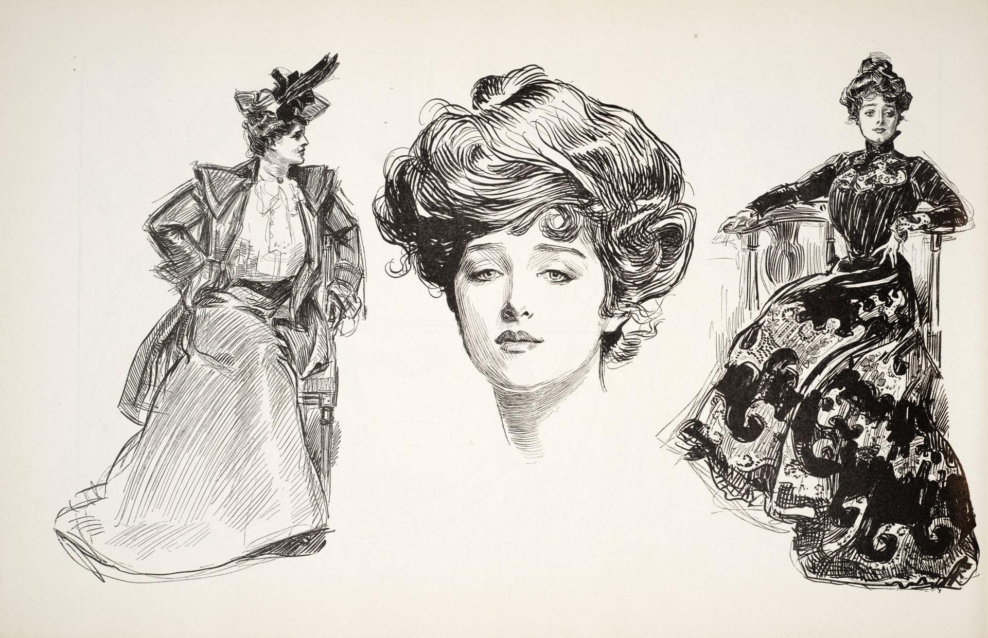 Gibson Girl illustrations