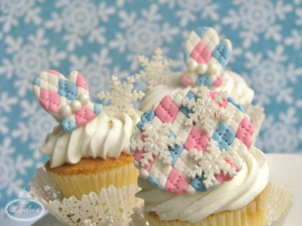 Fair Isle fondant cupcake tutorial