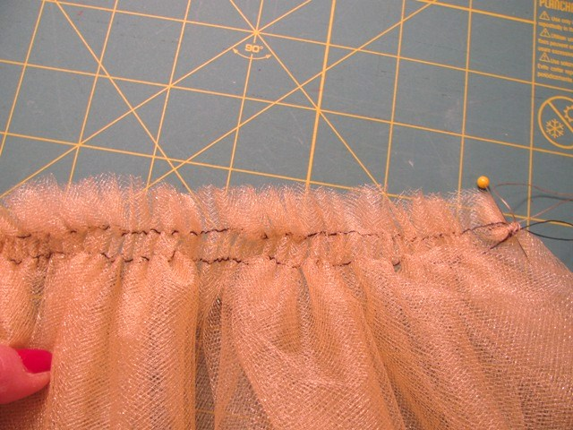 tulle gathered