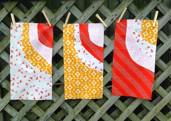 Improv Curved Quilt Blocks
