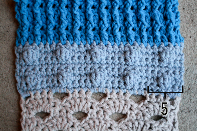 crochet bobble stitch pattern