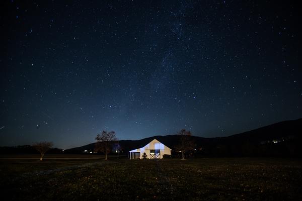 Starry sky near Charlottesville, Virginia