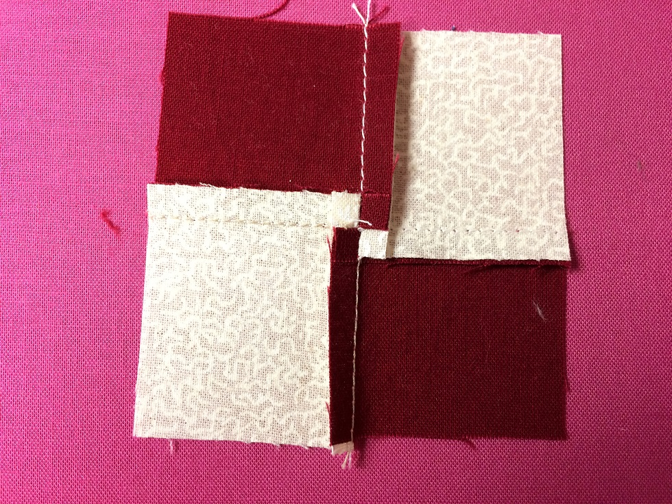 pressing seams in opposite directions
