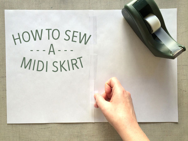 how to sew a midi skirt