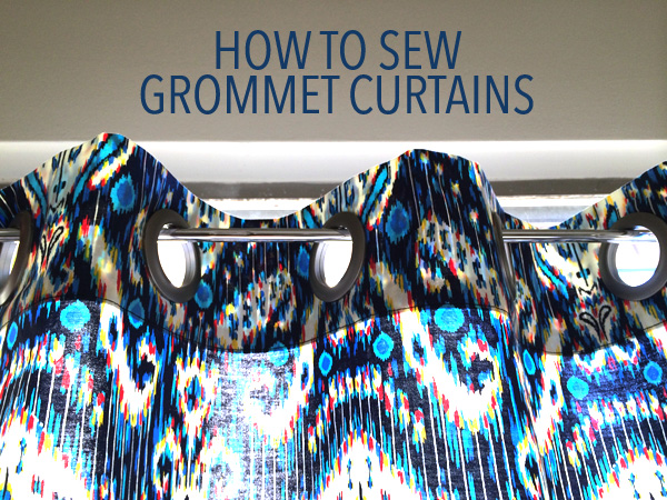 how to sew grommet curtains