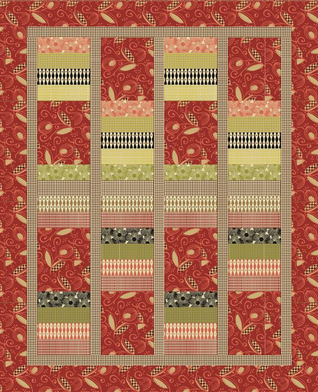 Mod Style Quilt Pattern