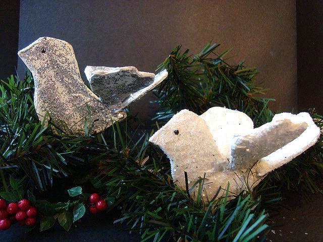Papier-mâché Christmas Dove