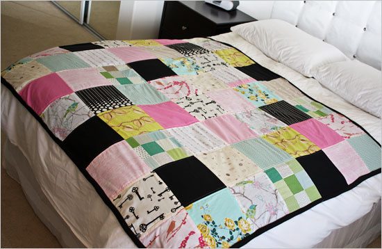 Fleece-backed quilt