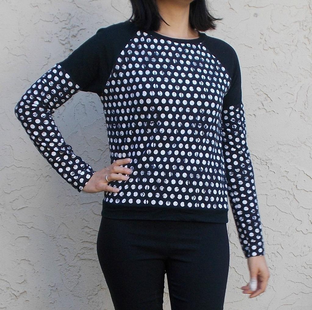 Raglan Top- Long-Sleeve Shirt Pattern