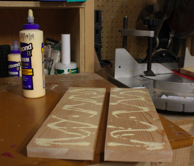 Gluing two boards together