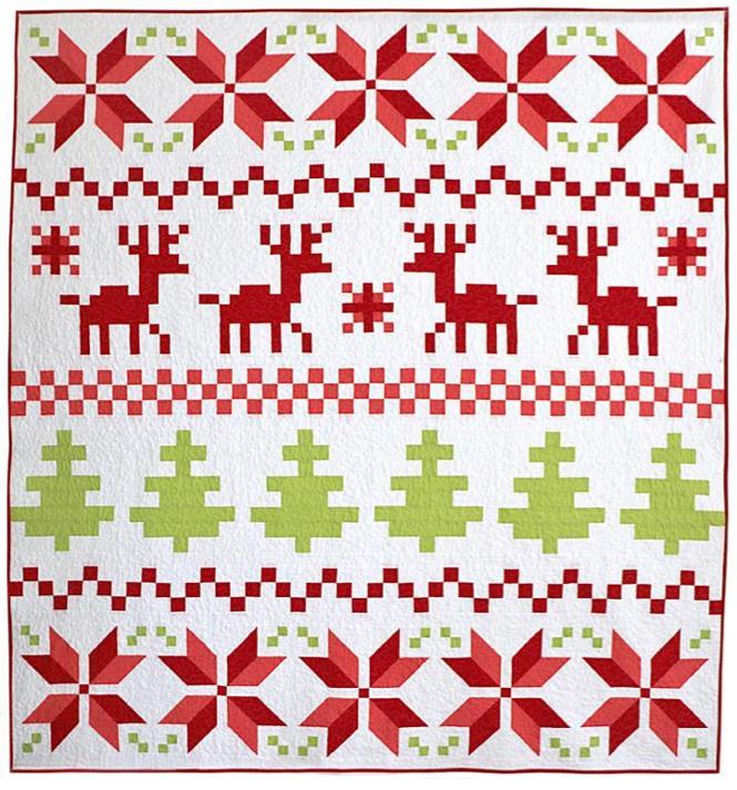 Fair Isle Christmas quilt pattern
