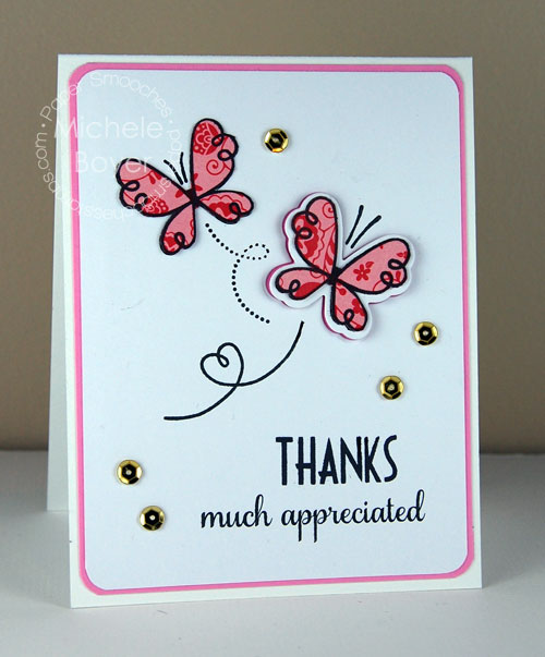 Pretty butterfly thank you card