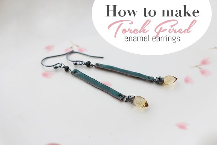 Torch Fired enamel earring Feature