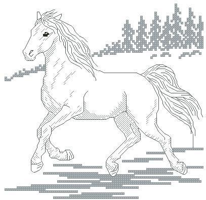 Wild Horse Cross Stitch Chart
