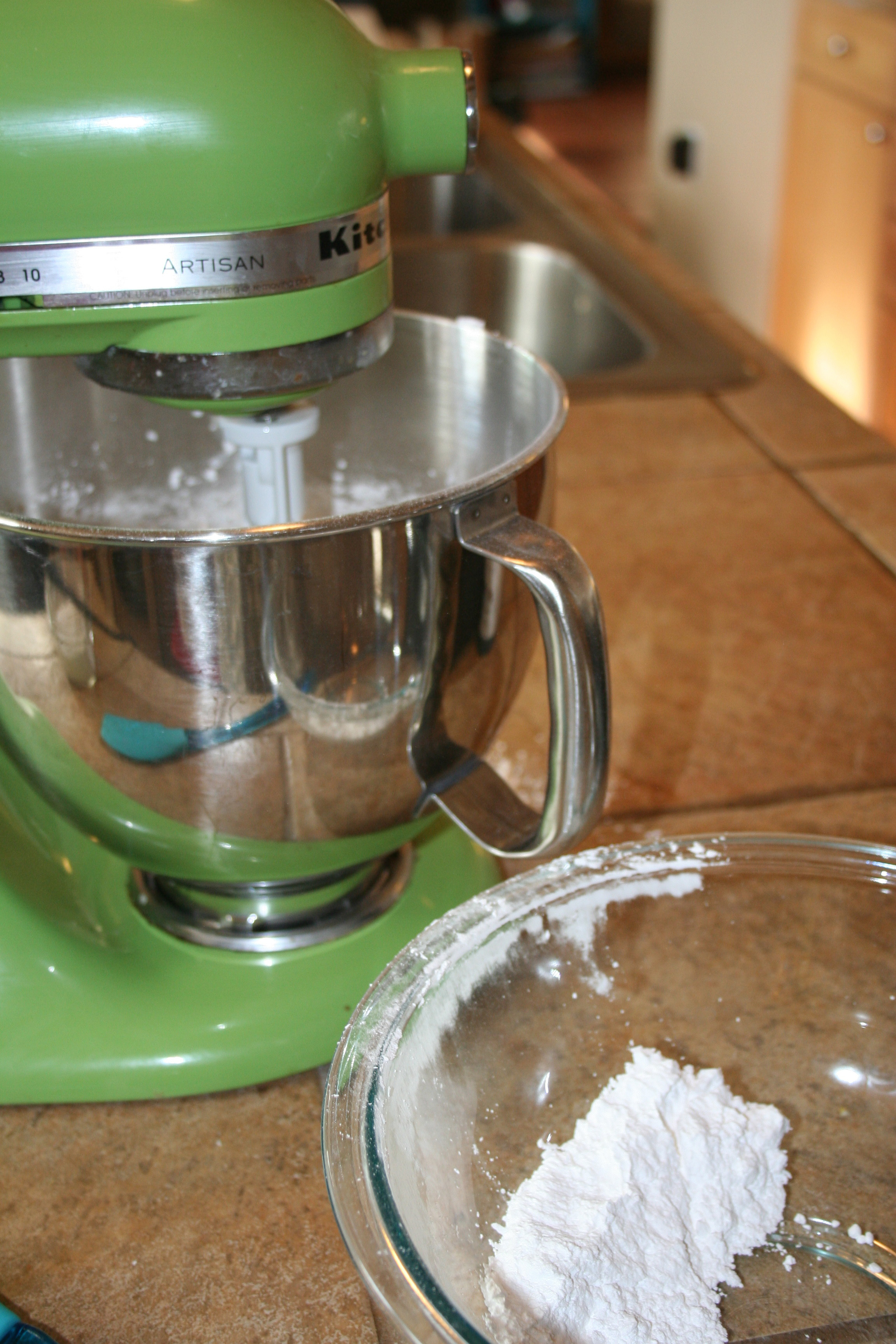 Add sugar until the cake reaches your desired consistency