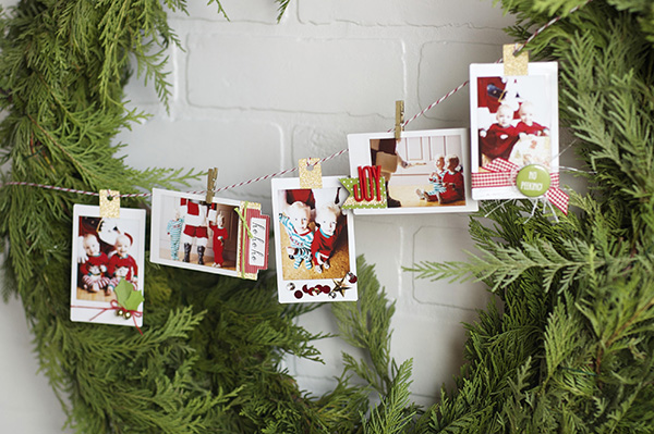 amy robison photo ornaments on wreath