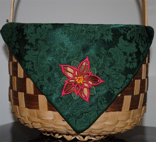 Cutwork napkin basket liner.