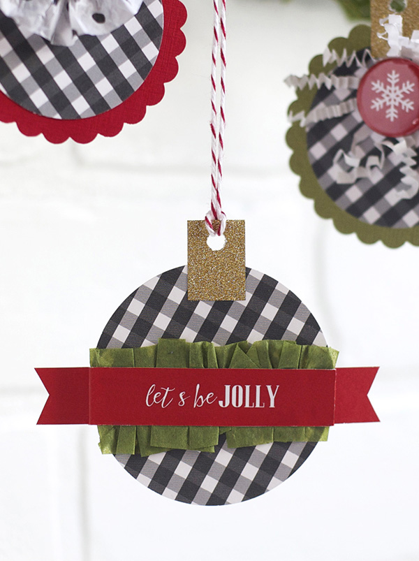 be jolly paper ornament