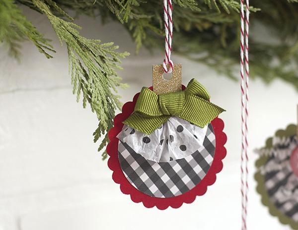 bow paper ornament