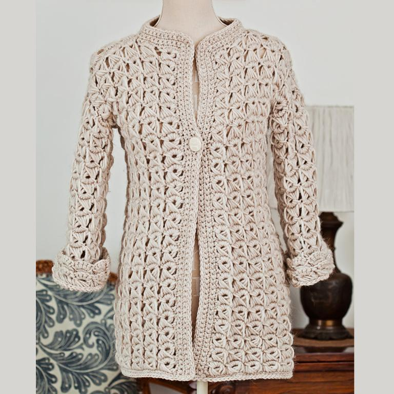 broomstick lace cardigan