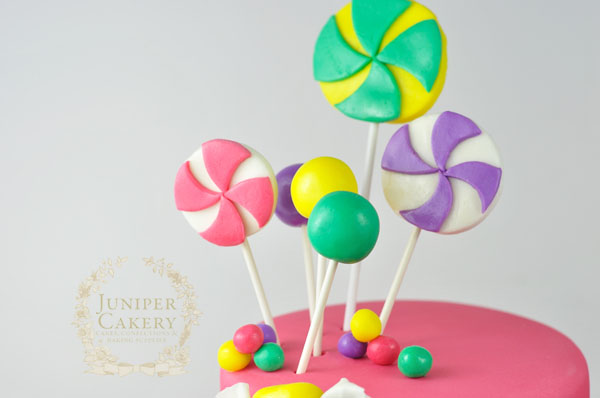 How to decorate a candy themed cake for birthday parties by Juniper Cakery