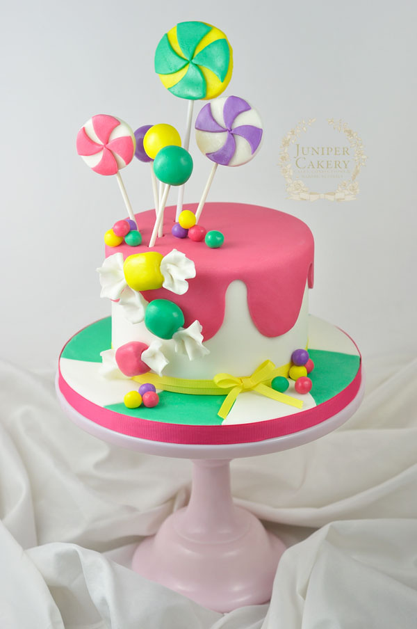 How to make a candy themed cake by Juniper Cakery