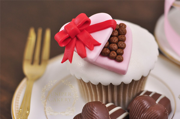 Make adorable chocolate box cupcake toppers for Valentine's