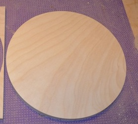cut circle in wood