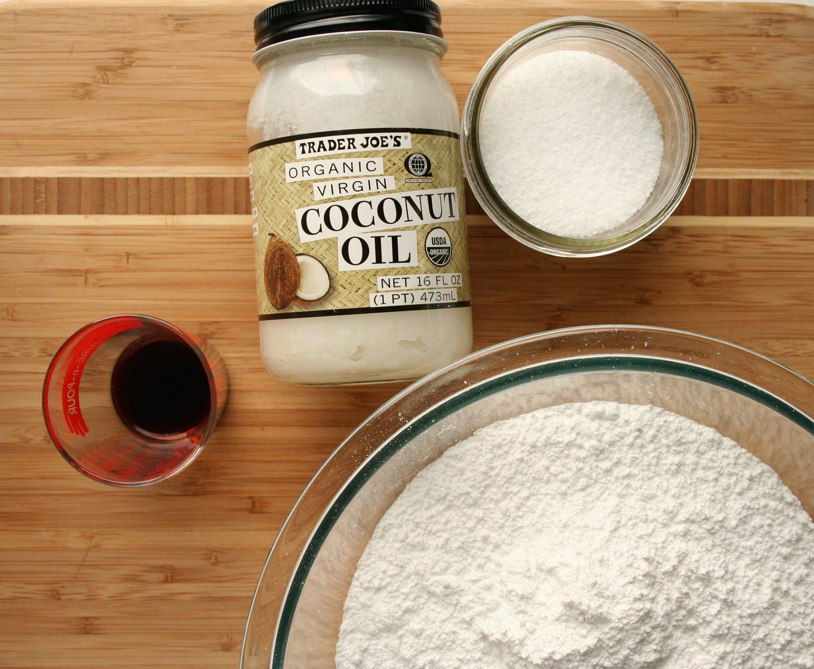 Coconut oil icing