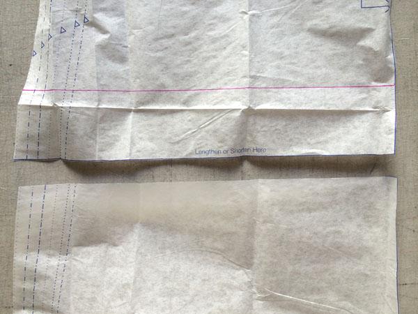 cut the lengthen or shorten line