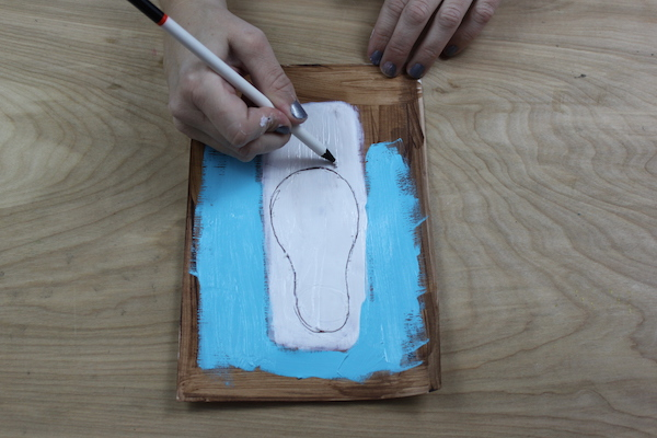 drawing into wet paint