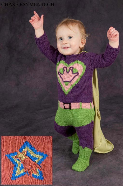 My First Costume Superhero knitting pattern