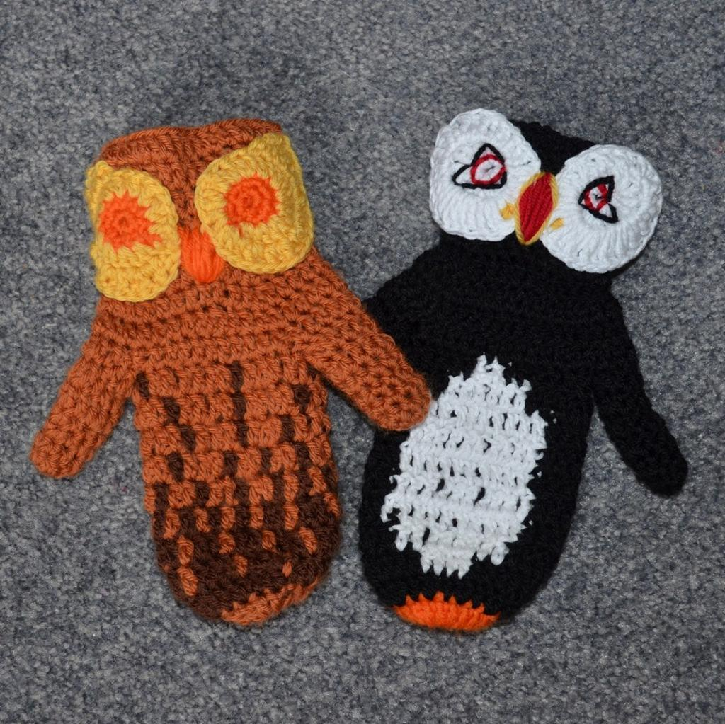Bird Mittens crochet pattern