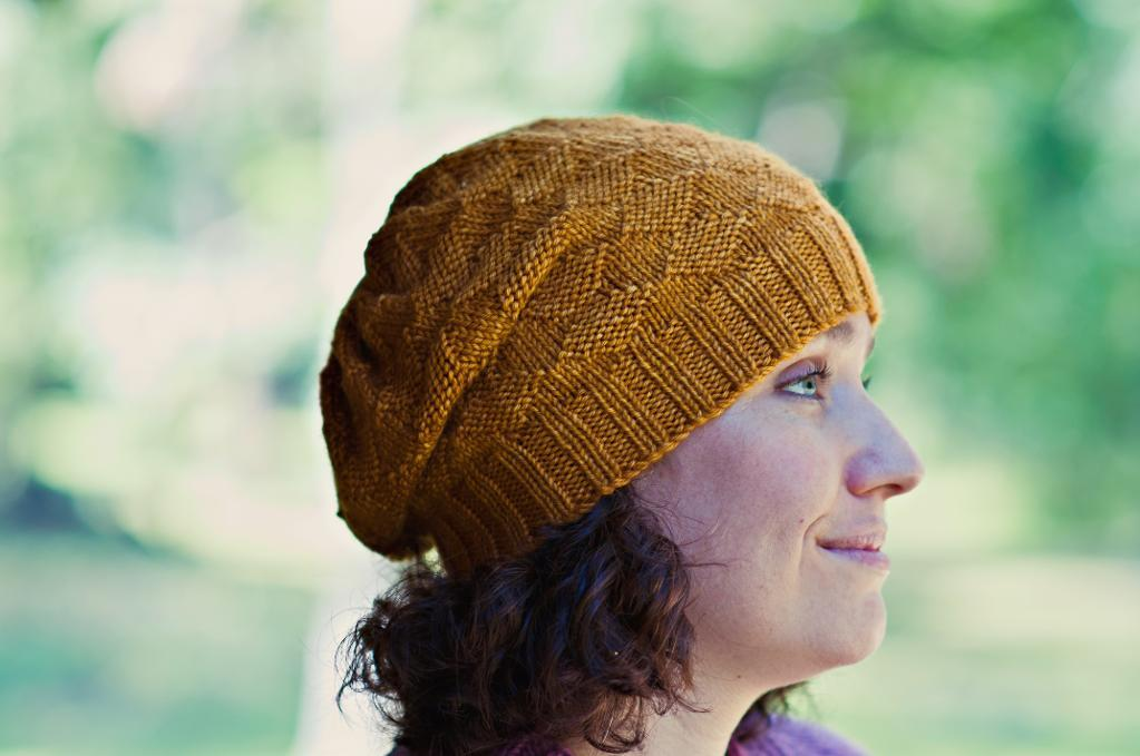 Sparkling Gold Hat knitting pattern