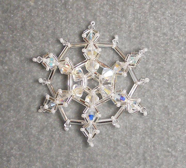 Crystal Chill Beaded Snowflake Tutorial