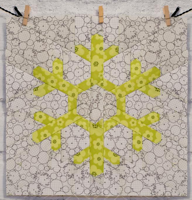 Snowflake quilt block