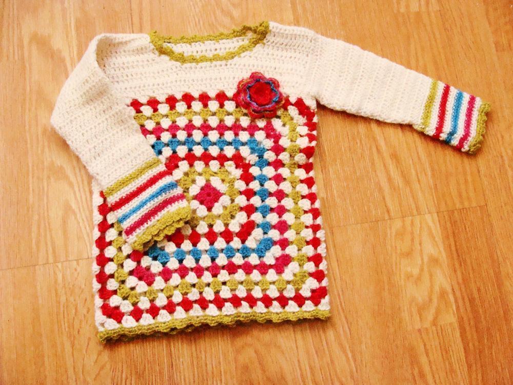 Bella Baby Pullover crochet pattern