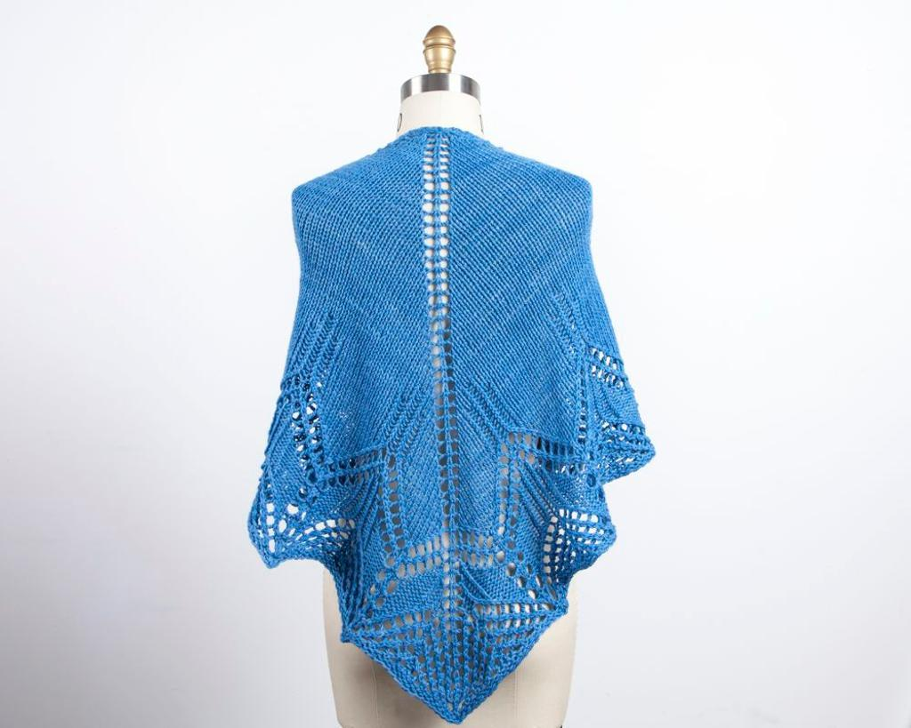 Worsted Weight Waterspout Shawl knitting pattern